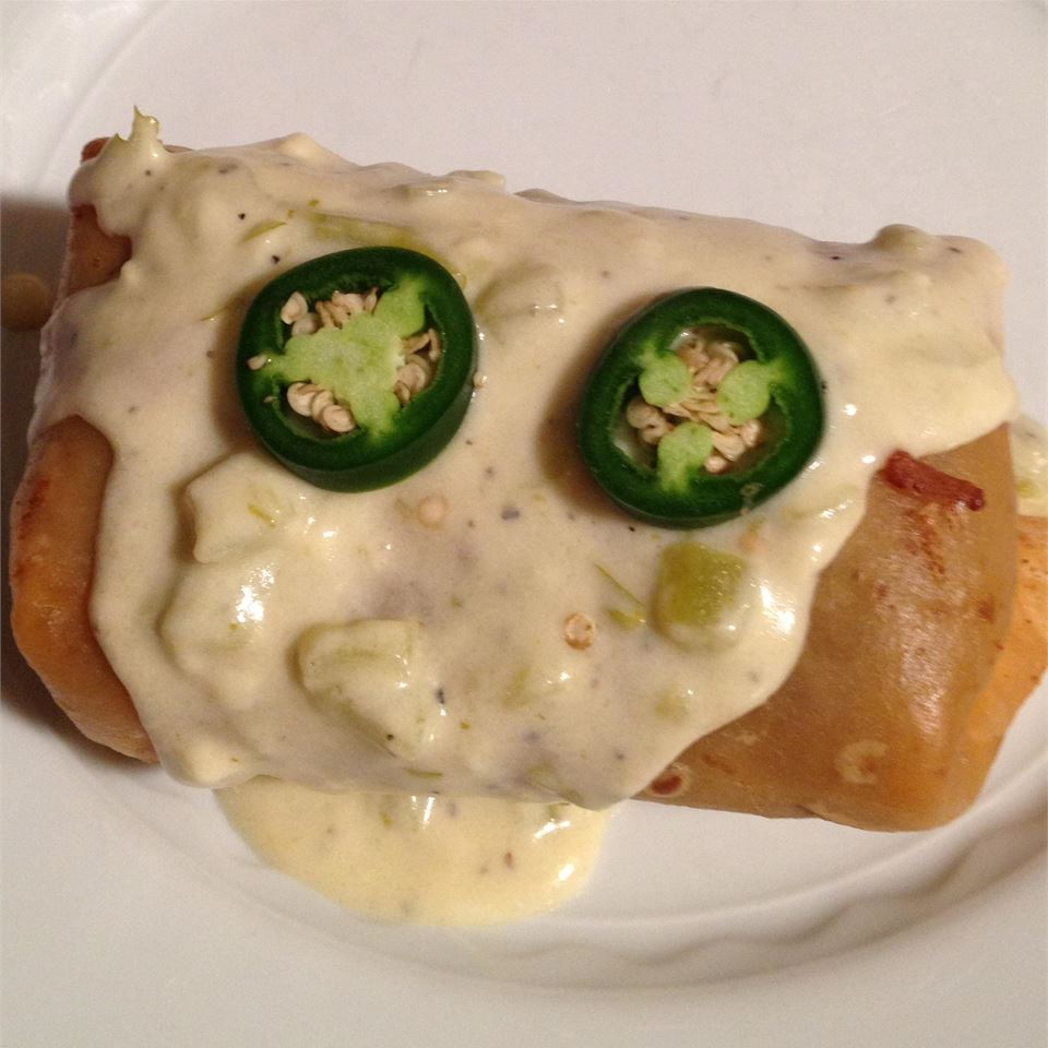 Chicken Chimichangas with Sour Cream Sauce Paul H