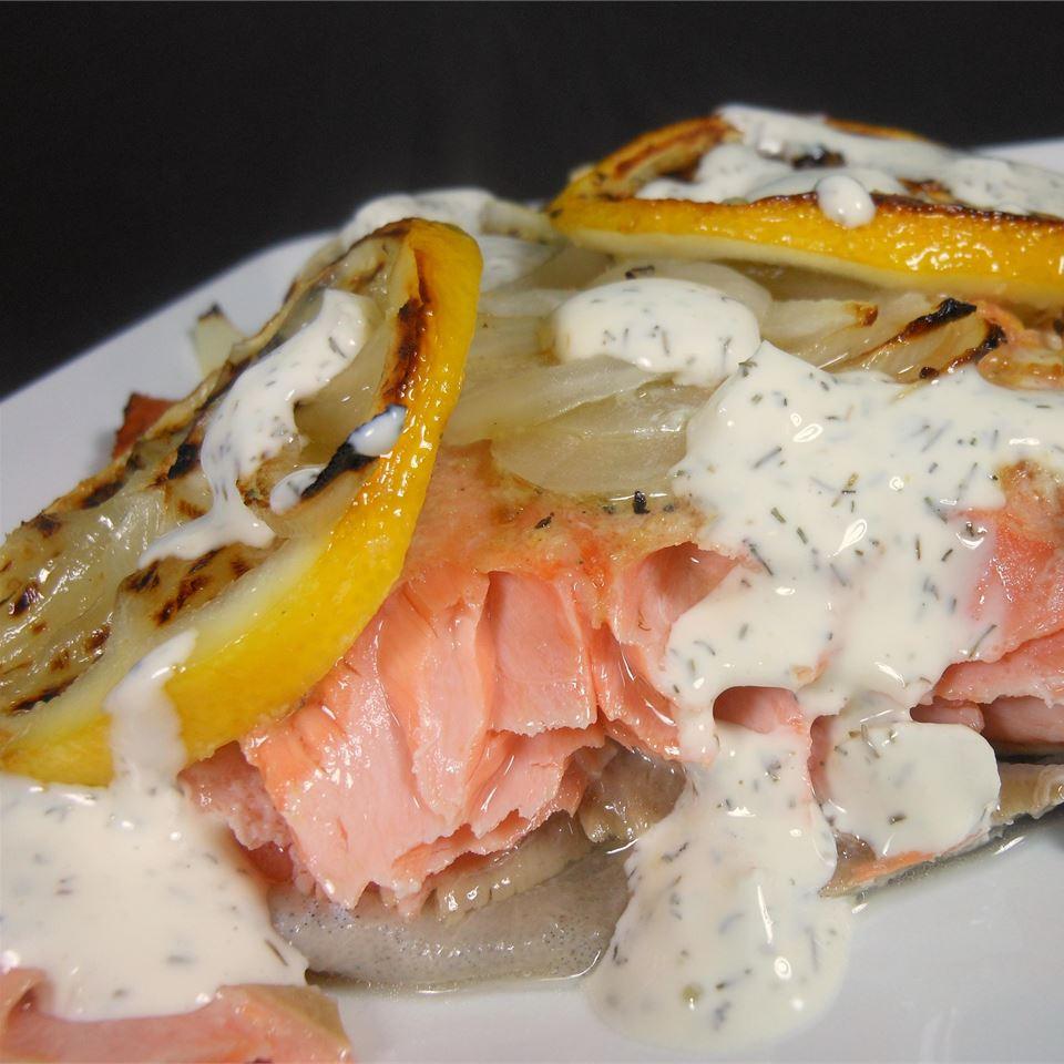 Salmon with Creamy Dill Sauce Good EatNZ