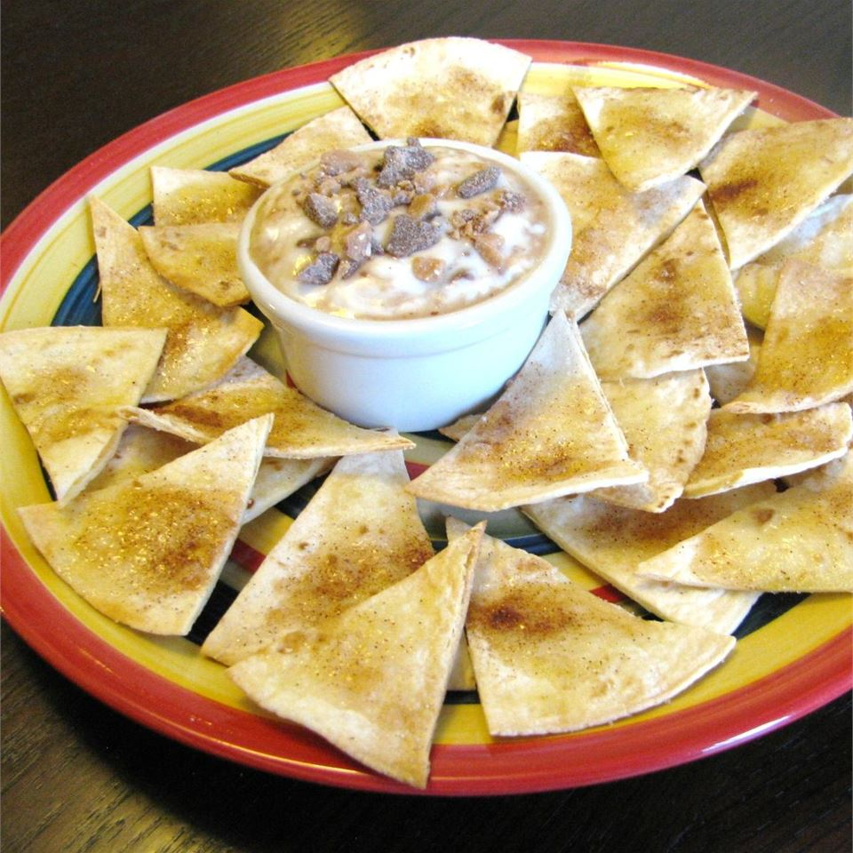 Tortilla Crisps with Brickle Dip