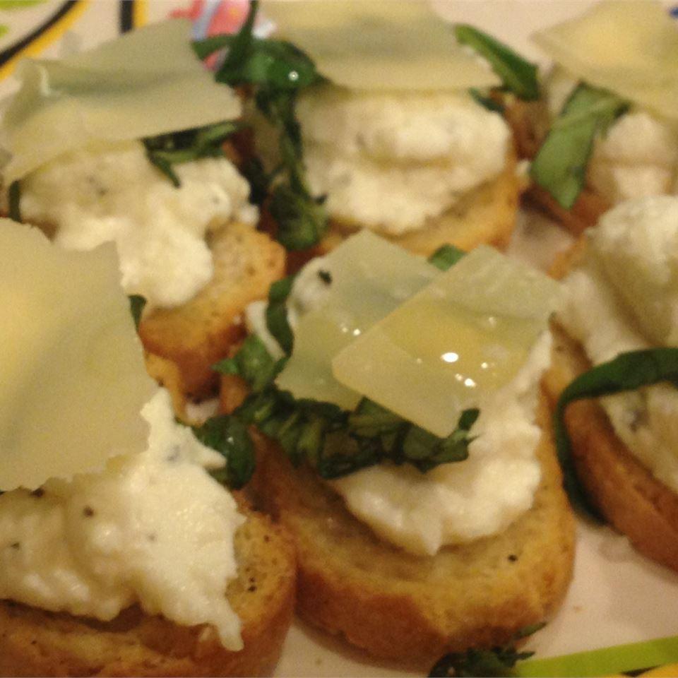 Parmesan-Truffle Bruschetta