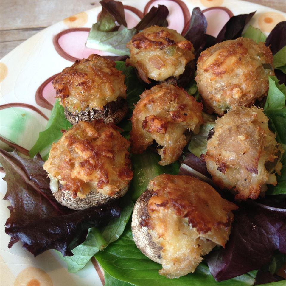 Tuna-Stuffed Mushrooms