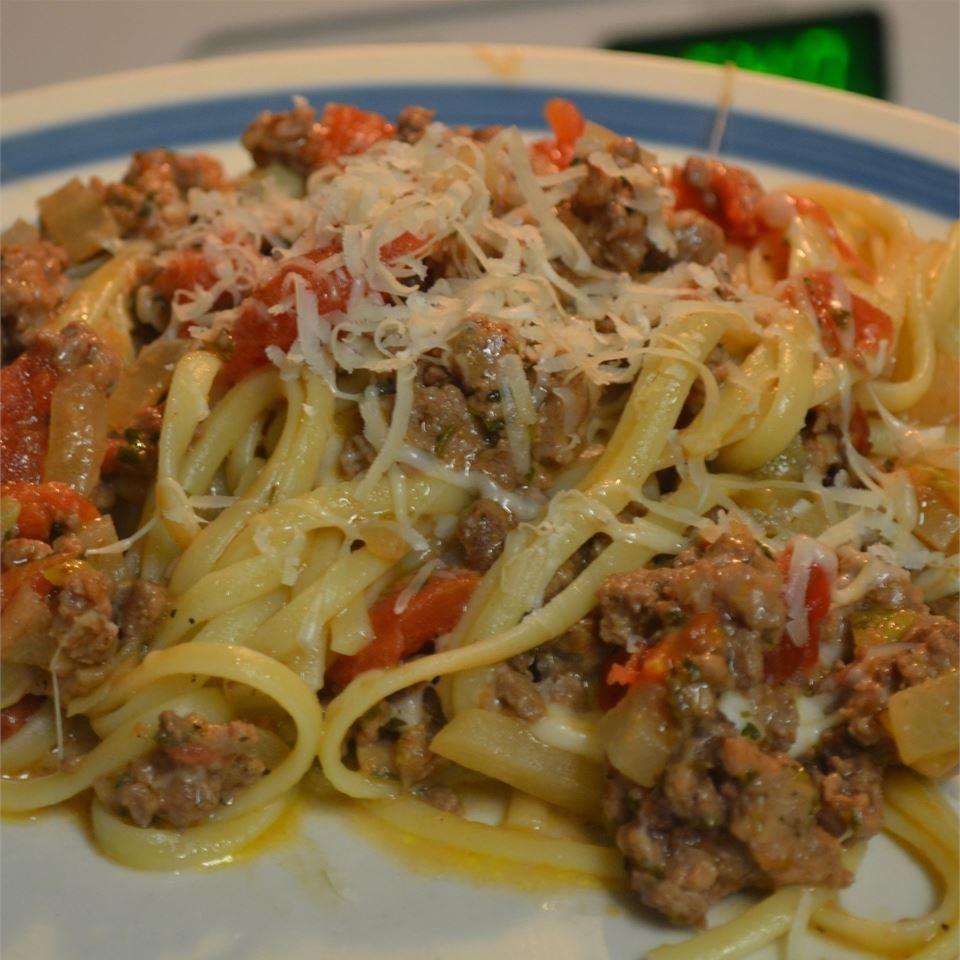 Skillet Spaghetti Supper Rebekah Rose Hills