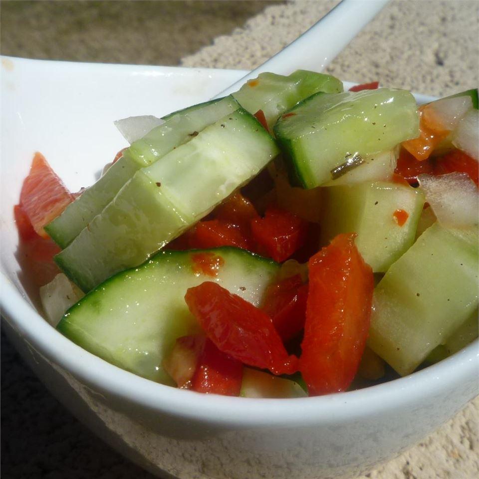 Italian Onion Cucumber Salad Arizona Desert Flower