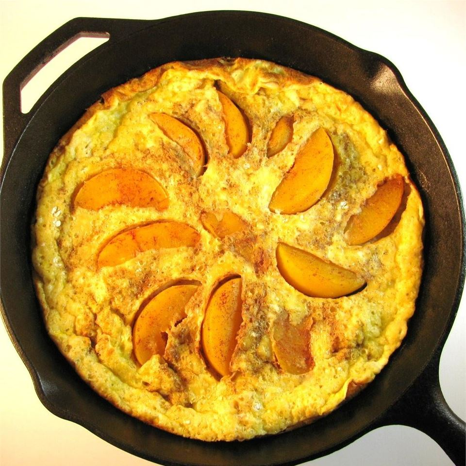 Baked Pancake with Peaches