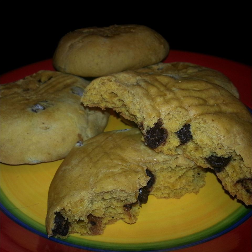 Egg Free Chocolate Chip Pumpkin Cookies TheDeeje