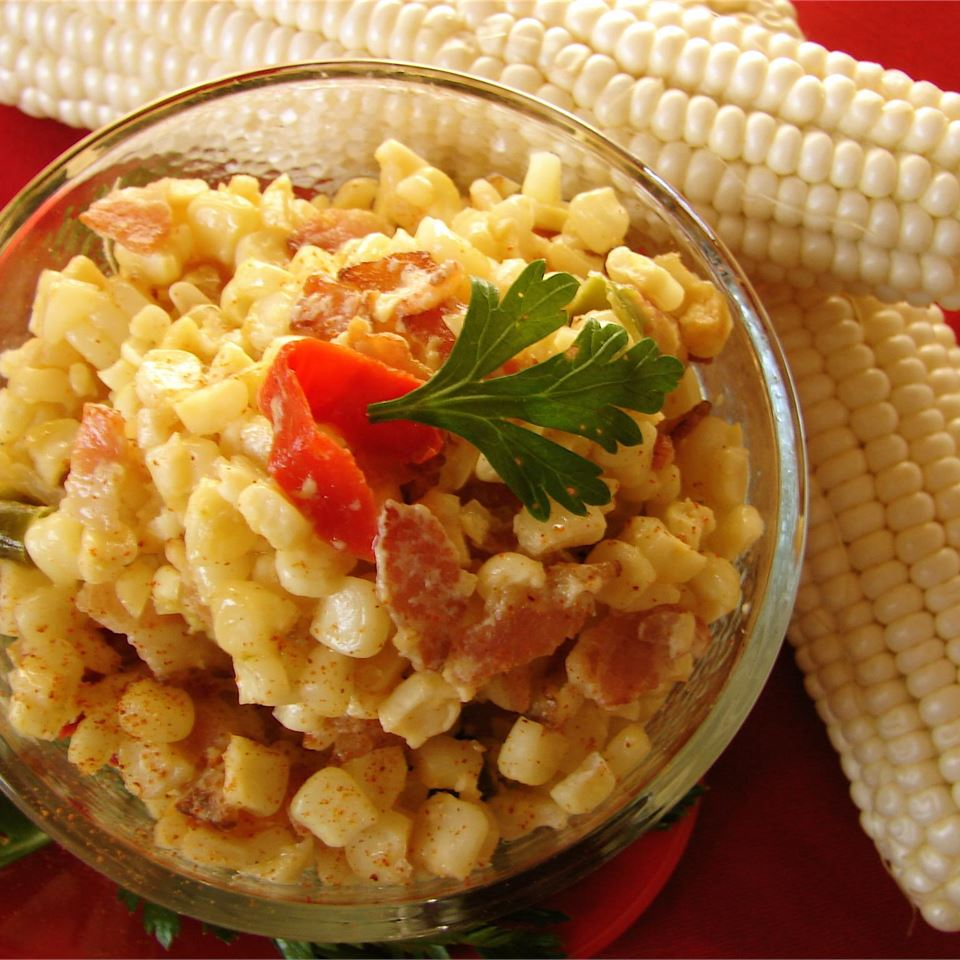 Cajun Corn and Bacon Maque Choux