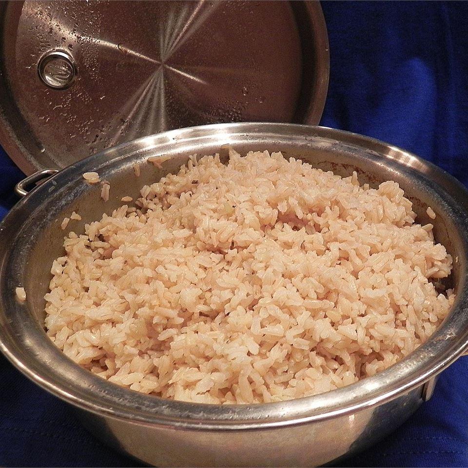 Easy Oven Brown Rice Scotdog
