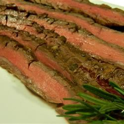 Grilled Balsamic and Soy Marinated Flank Steak Marianne