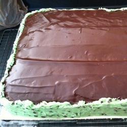 Mint-Chocolate Chip Cake