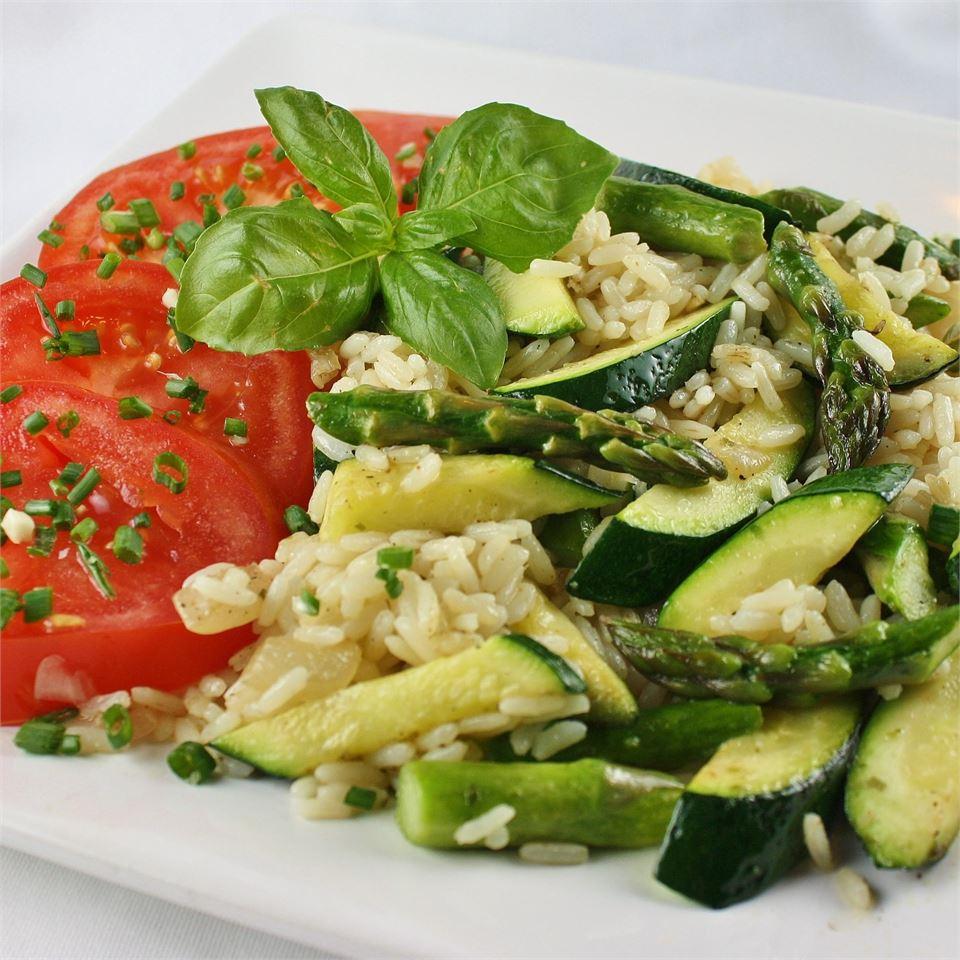 Asparagus-Zucchini Rice Janet