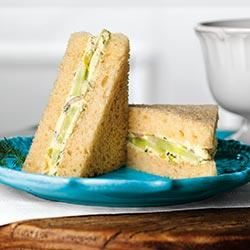 Cucumber and Dill Finger Sandwiches Carapelli® Olive Oil