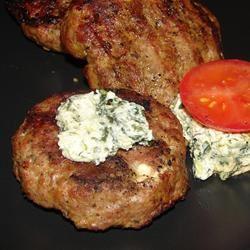 Summer Feta Burger with Gourmet Cheese Spread GodivaGirl