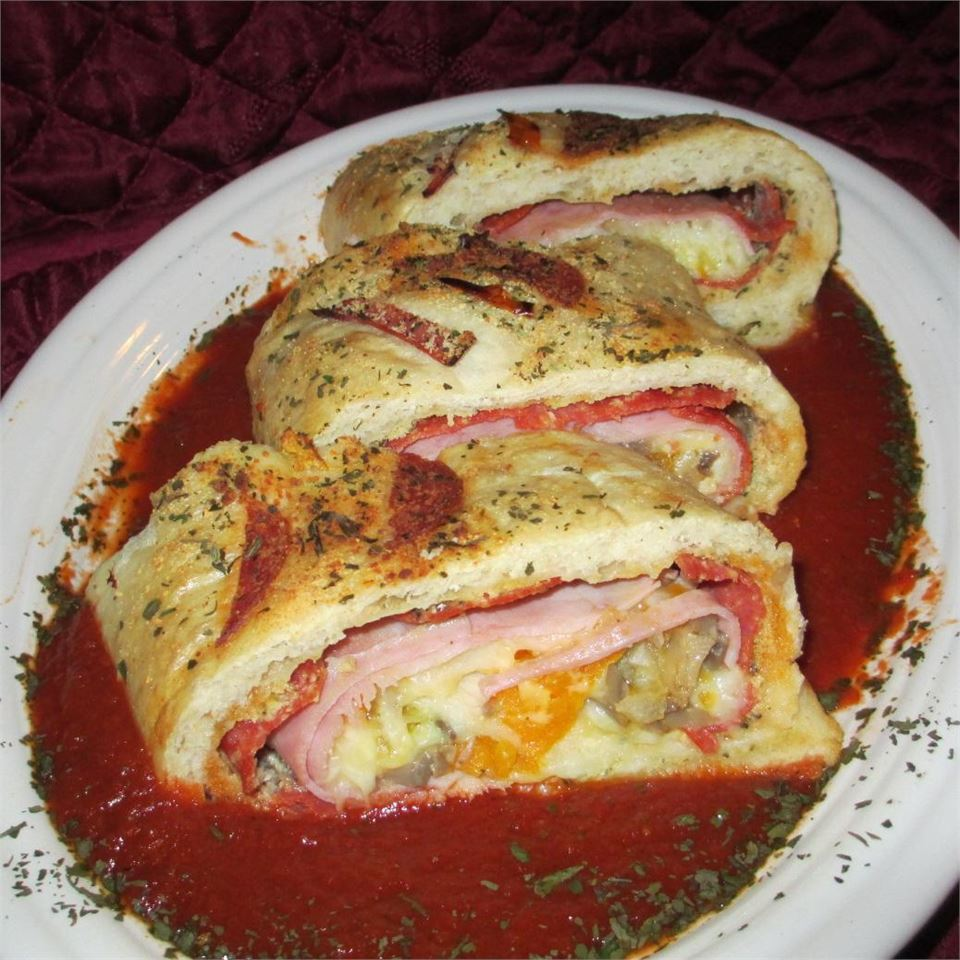 Meat and Veggie Stromboli