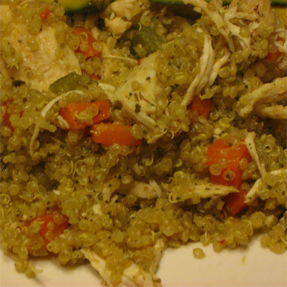 Quinoa Pilaf with Shredded Chicken McBacon