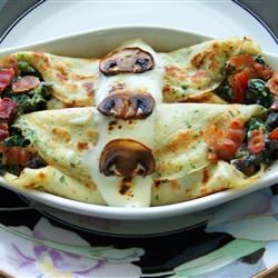 Crepes with Spinach, Bacon and Mushroom Filling DEE C.