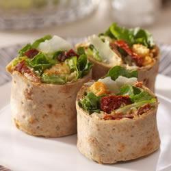 Caesar Salad Pinwheels