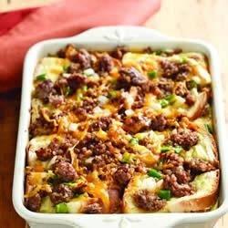 sausage and apple breakfast casserole