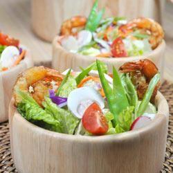 Grilled Shrimp Salad with Sesame Ginger Vinaigrette