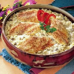One Dish Chicken and Rice Bake Trusted Brands