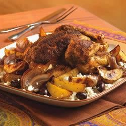 Roast Chicken with Potato, Olives and Greek Seasoning