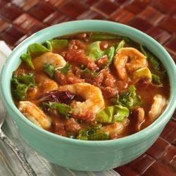 Cajun Shrimp and Greens Soup