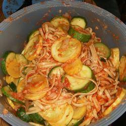 Zucchini Summer Pasta erikagee