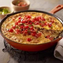 Chorizo, Potato and Green Chile Omelet