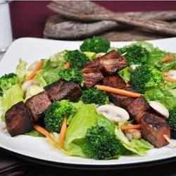 Skewered Steak and Vegetable Salad
