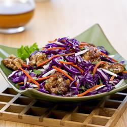 Asian Coleslaw with Candied Walnuts