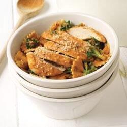 creamy bow tie pasta with chicken and broccoli recipe