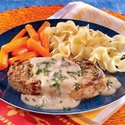 creamy mustard pork chops recipe
