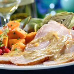 Ham with Maille® Orange Sauce