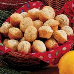 Poppy Seed Mini Muffins
