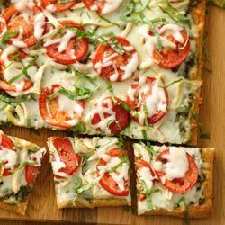 Chicken Pesto Pizza from Pillsbury® Artisan Pizza Crust Trusted Brands