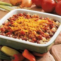 Cheesy Beans and Rice
