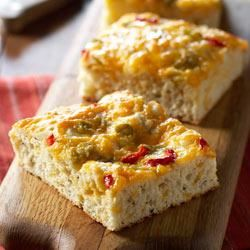 Bacon, Herb and Cheese Snack Bread