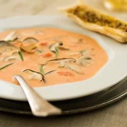 Vodka Soup with Mushrooms