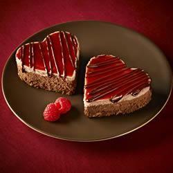 Ghirardelli Chocolate Raspberry Cheesecake Hearts