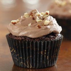 Brownie Cupcakes with Hazelnut Buttercream