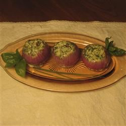 Roasted Red Onions Stuffed With Mascarpone Cheese ChristineM