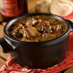 Sweet and Spicy Slow Cooker Beans and Ribs