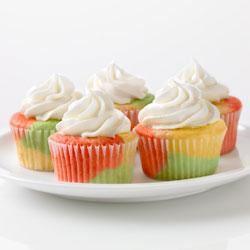 Tie-Dye Fruity Cupcakes