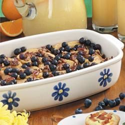 French Toast Bake with Blueberries