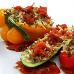 Italian Orzo Stuffed Peppers