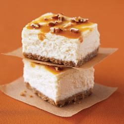 Double Caramel-Pecan Cheesecake Bars Trusted Brands
