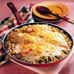 Chicken and Stuffing Skillet Trusted Brands