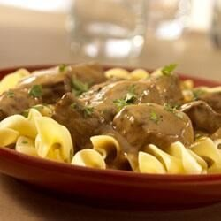 one dish beef stroganoff and noodles recipe