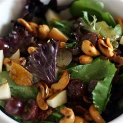 Curried Cashew, Pear, and Grape Salad Rachelle Bowden