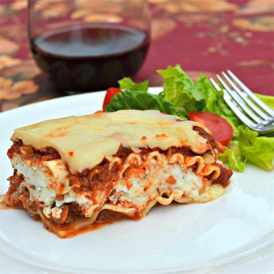 Classic And Simple Meat Lasagna Recipe Allrecipes