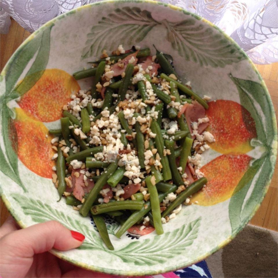 Green Beans with Blue Cheese Aggie Gu